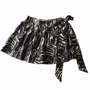 Express Design Studio Silk Animal Skirt Women's 6